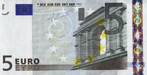 Billete de 5 Euros