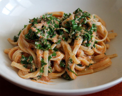 Creamy Marinara Fettucine with Kale