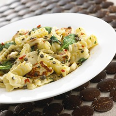 Haloumi and Puy Lentil Pasta