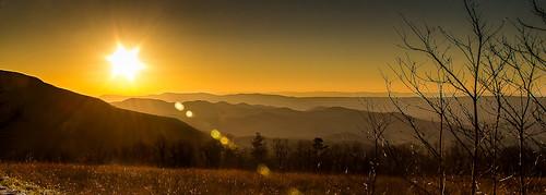 uk trees sunset mountains virginia lensflare elkton skylinedrive shenandoahnationalpark canoneos60d efs18200mmf3556is