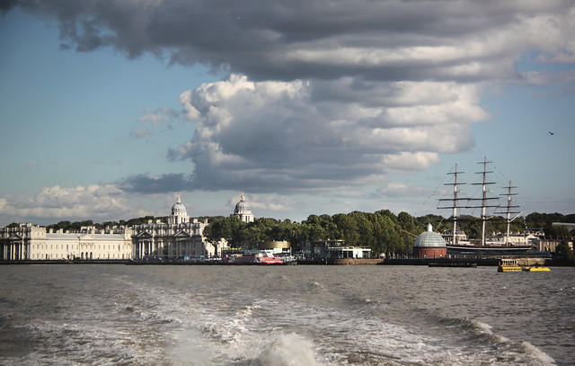 Thames river boat from Greenwich to Westminster