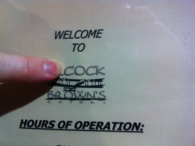 Welcome to Cock and Brown's Eatery