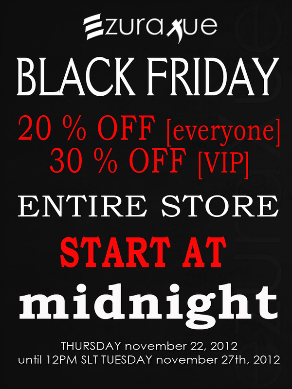 ezura + Thanksgiving Black Friday Sales!