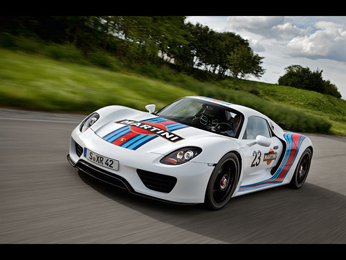 2012 Porsche 918 Spyder Martini Racing Design . Stuttgart. Driving trials of the Porsche 918 Spyder are entering the next phase. A permanent fixture of the test programme for the 918 Spyder � and in the tuning process for all Porsche vehicles � is the 20.