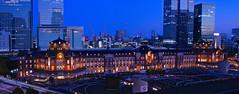 Tokyo station panorama shot