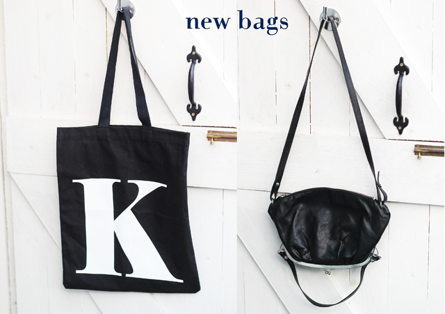 Alphabet bags letter K, Maison Martin Margiela for H&M black upside down bag