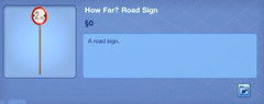 How Far Road Sign.