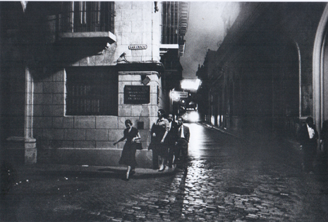 RaquelRevuelta ManuelCorrales MarianoRodriguez salen Bodeguita del Medio La Habana 1958 Foto Jesse Fernández Uti 465