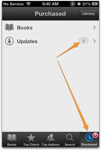 iBooks versioning on iPhone