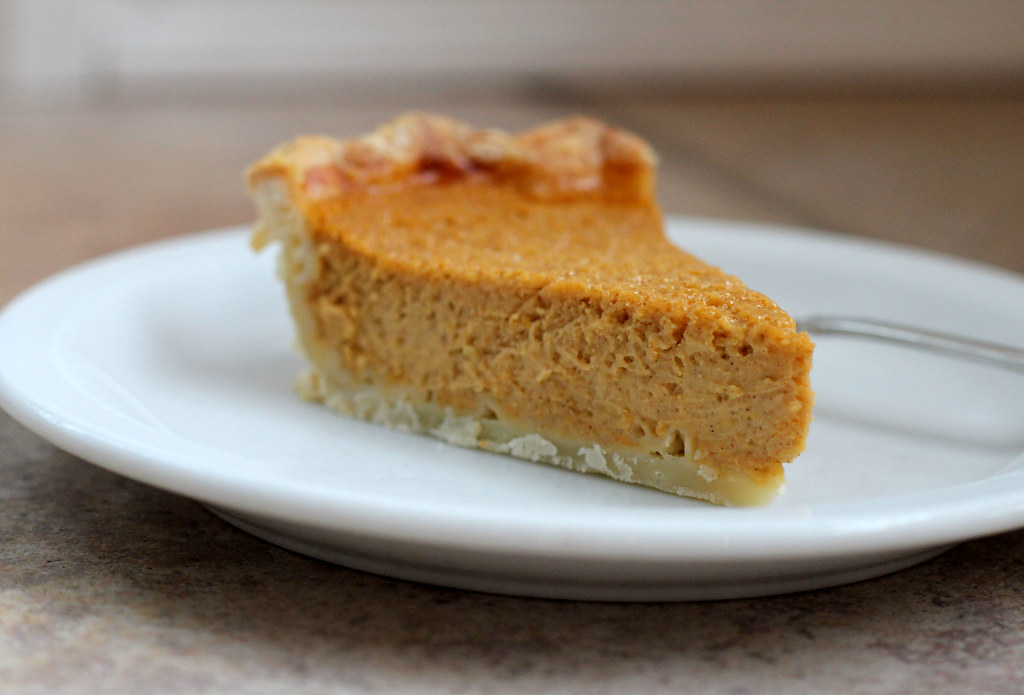 slice of silky butternut squash pie