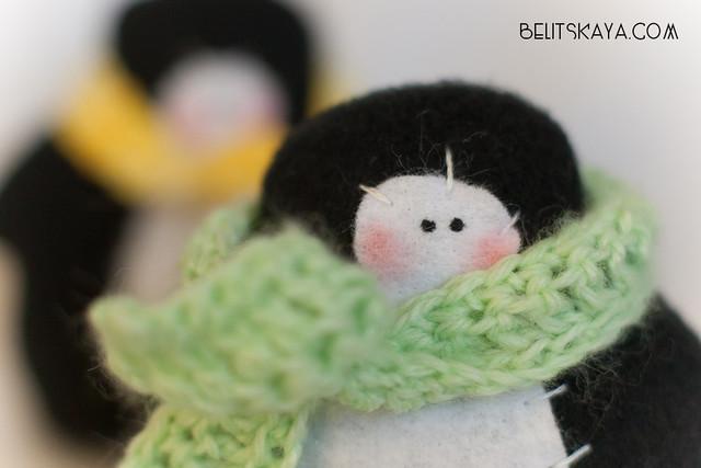 Пингвины в шарфах