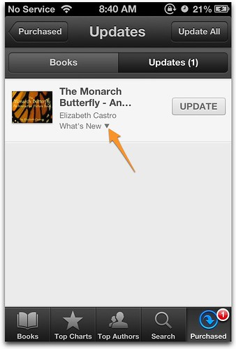 iBooks versioning on iPhone What's New?
