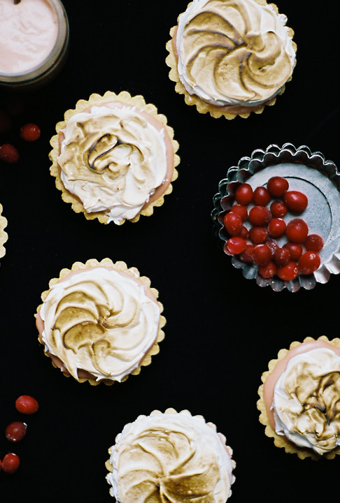 cranberry meringue tartlets