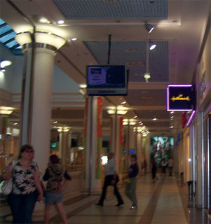 An underground mall in Kyiv includes retail chain  stores such as Hallmark as well as local products.
