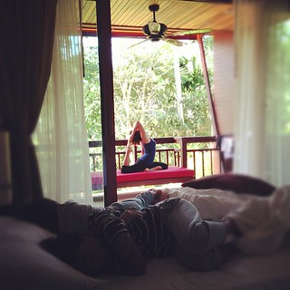 while you were sleeping... #yoga #holiday #krabi #thailand