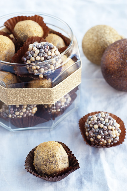golden chocolate truffles for lets make Christmas 2012