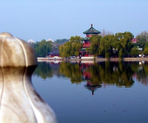 china lake tree tower water reflections landscape beijing poland jacek soe supershot mygearandme mygearandmepremium blinkagain