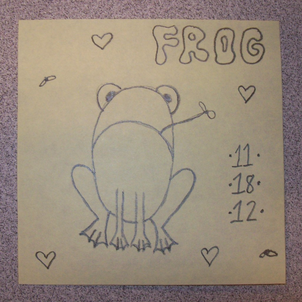 Post-It sketch, day 18