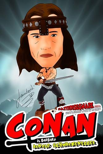 Conan il Barbaro (Schwarzenegger) by Giuseppe Lombardi