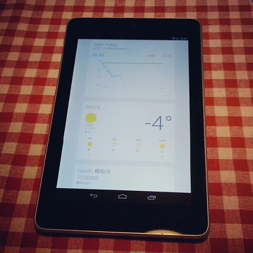 Google Now on #Nexus 7.