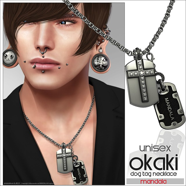 [MANDALA]OKAKI dogtag necklace [FaMESHed]