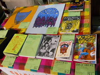 prints and zines and books