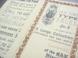 TJ Lyons type specimen brochure