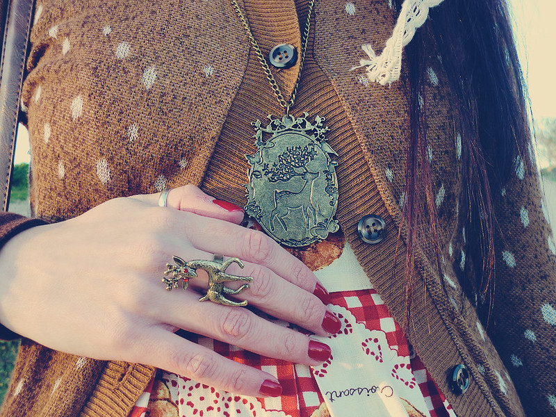 Erised necklace & Deer ring