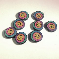 art, spiral, purple, violet, circle, button,