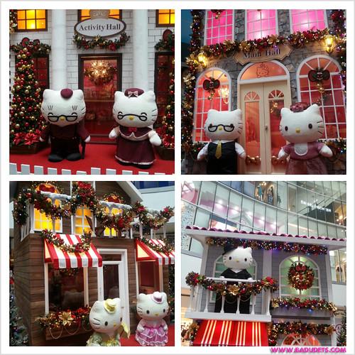 Time to purrrty at sm north edsas hello kitty christmas badudets hello kitty village at sm stopboris Images