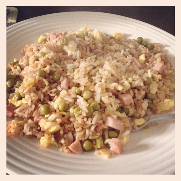 Collin made some delicious fried rice for lunch!