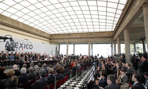 Firma del Pacto por México, Castillo de Chapultepec, Ciudad de México. 2 Diciembre 2012