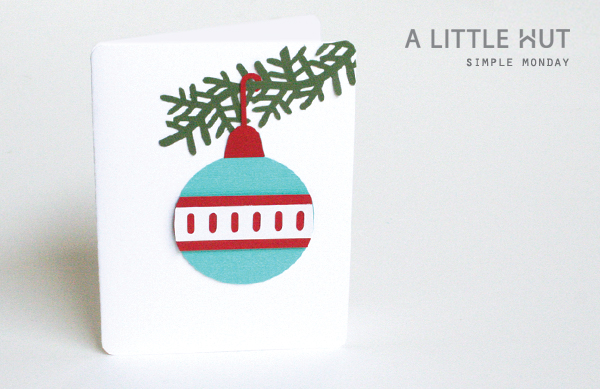 simple monday - ornament card