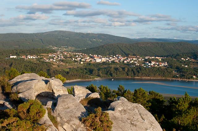 El mirador de Monte Blanco en Ponteceso