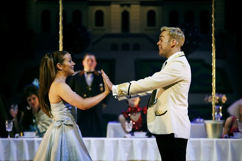 Julie Heatherill as Cinderella and Martin McCormick as Prince Pierre in the Royal Lyceum's production of Cinderella, December 2012. Photo by Eamonn McGoldrick