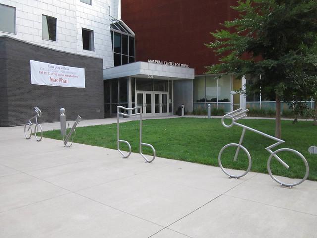 Music Themed bike racks