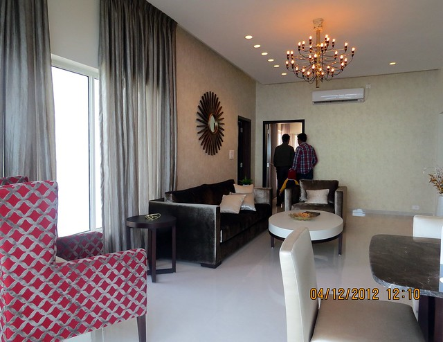 Living from Dining - Show flat of Siddhashila Eira, 2 BHK & 3 BHK Flats in 16 Story 2 Towers with Amenities & Parking on & under the Podium at Koyate Vasti, Punawale, PCMC, Pune 411033