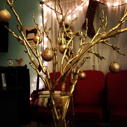 Sparkly branches #christmasdecornewbie