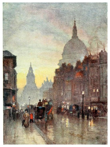 024-Cannon street- The scenery of London- 1905-Herbert Marshall