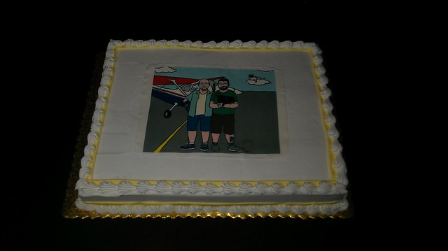 I got sidetracked while trying to send this, here's the full cake