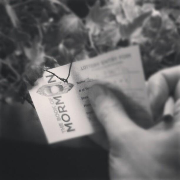 Book of Mormon Lottery Slip