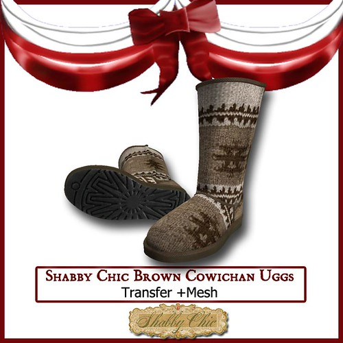 Shabby Chic Brown Cowichan Uggs by Shabby Chics