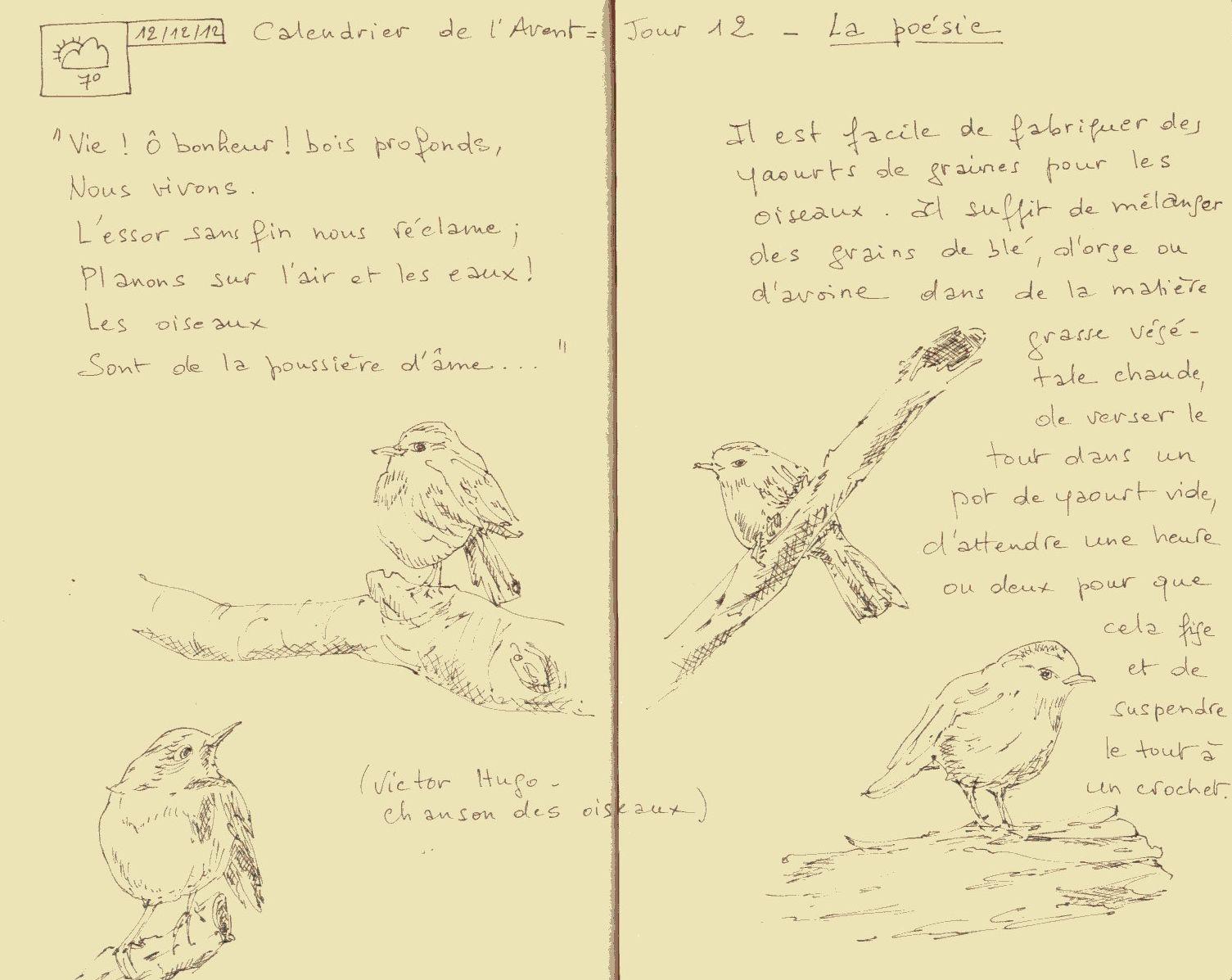 Sketchbook Calendrier De Lavent Jour 12 La Poésie