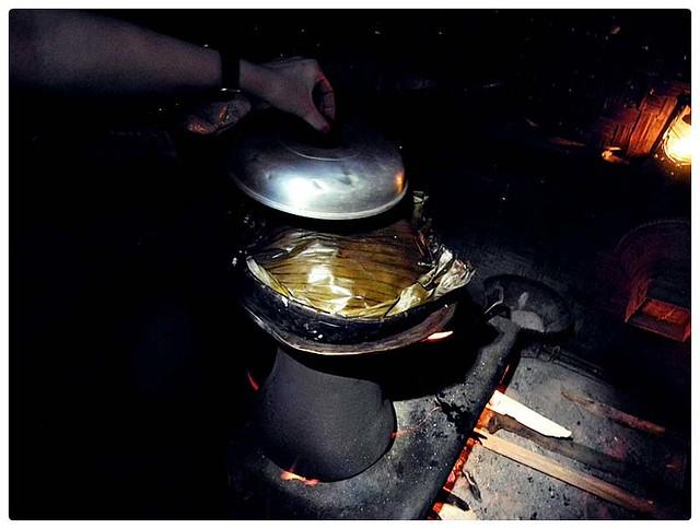 daun pisang untuk menanak nasi