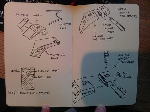 Mobile spectrometer design sketches