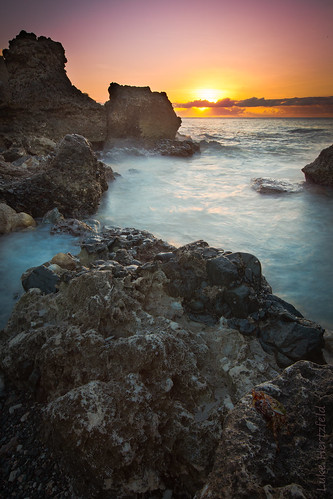 ocean morning sea sky water rock clouds sunrise dawn solitude surf waves cuba peaceful crab calm cliffs guantanamobay caribbean geology gitmo gtmo