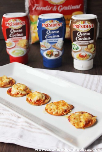 Minipizzas crujientes con queso cocina President (15)