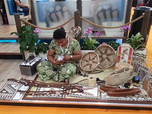 An exhibit for Fiji at at Travel Show