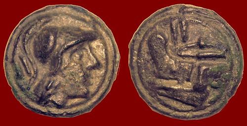RRC 041 Aes Grave Dupondius Roma Prow, II, 158 grams