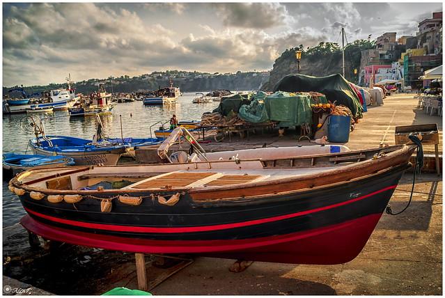 Boats in Marina Corricella - Procida